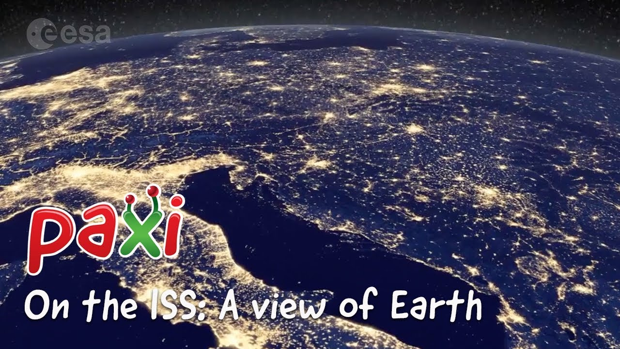 Paxi on the ISS. A view of Earth. European Space Agency