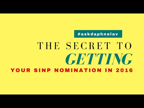 The Secret to Getting Your SINP Nomination in 2016