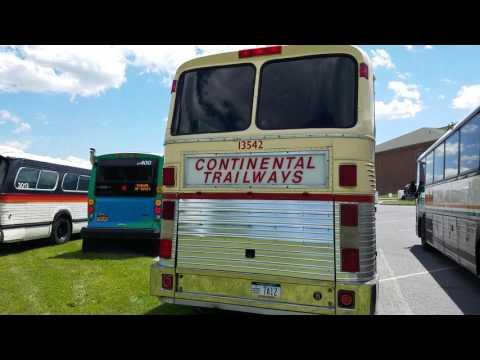 Trailways Eagle bus engine revving.