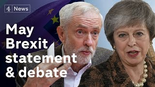 LIVE: May to warn MPs against second Brexit referendum