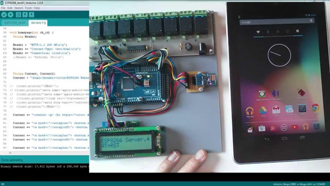 Arduino Esp8266 Wifi Module Web Server Youtube