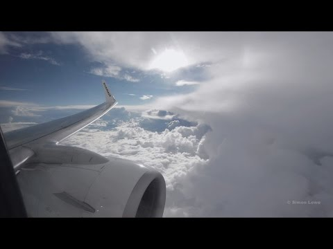 Turbulent descent and landing at Manchester UK.
