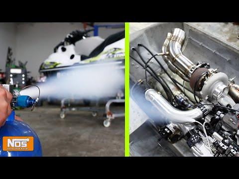 Crazy! Alcohol Fueled Turbo Jet Ski With Nitrous (Insane 1400 HP)