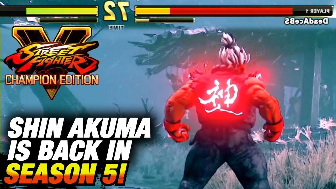Shin Akuma Is Back In Season 5 Sfv Champion Edition Extra Battle More Youtube