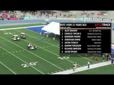 2018 AAU JO 400m Final 11yr boys