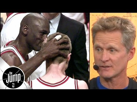 Steve Kerr on when Michael Jordan told him he\'d take last shot of 1997 NBA Finals | The Jump
