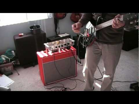 Magnatone 213 Troubadour Amplifier Clone Demo By Leon C Youtube