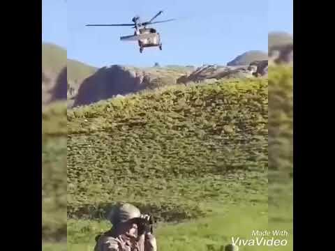 Operasyon öncesi. Helikopter selam veriyor..