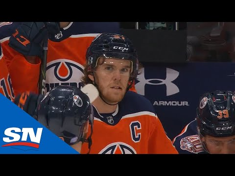 Connor McDavid Gets His OT Goal Disallowed In One Of The Closest Calls You'll See