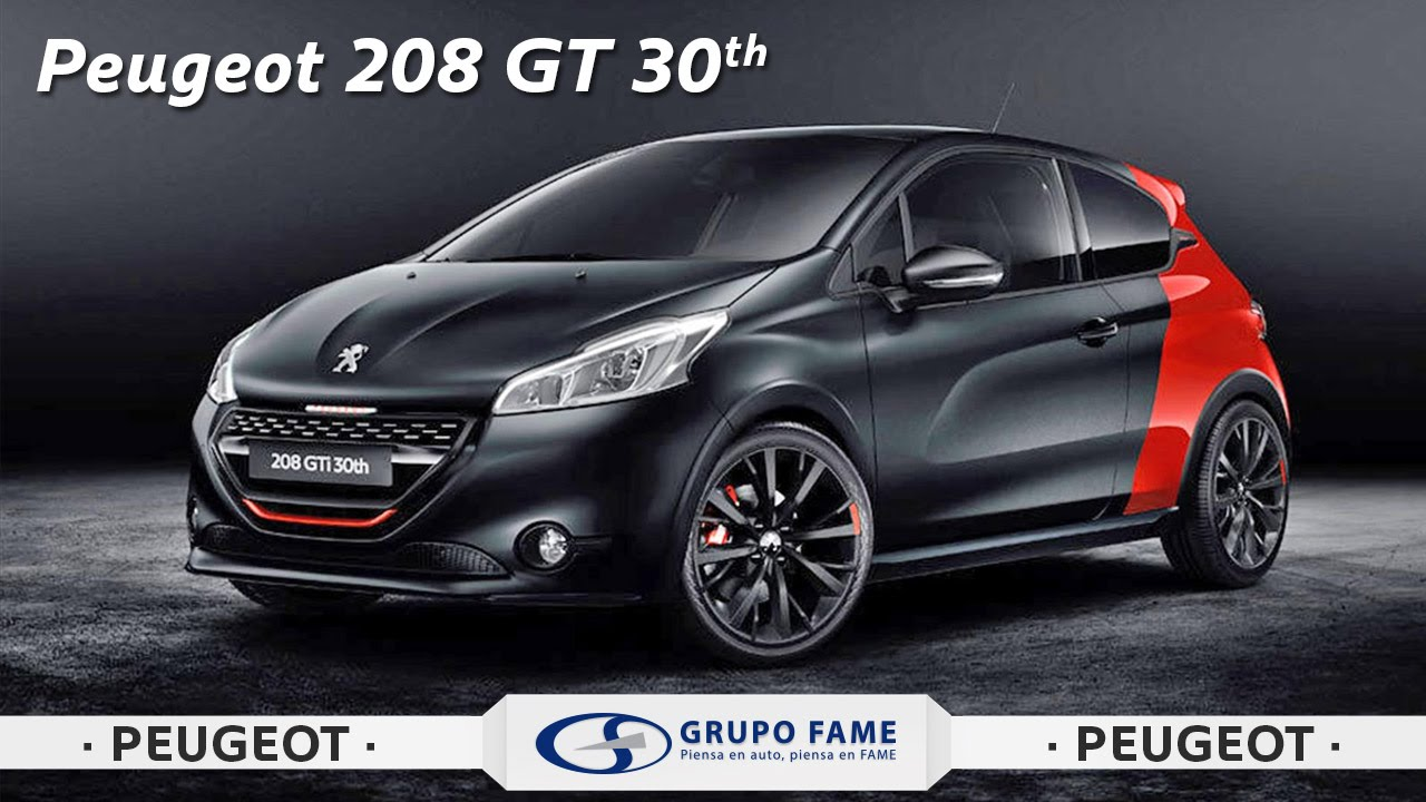 nuevo peugeot 208 gt 30 aniversario youtube. Black Bedroom Furniture Sets. Home Design Ideas