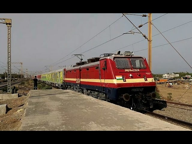 Speed Trial Test train with Different colored types of LHB coaches.