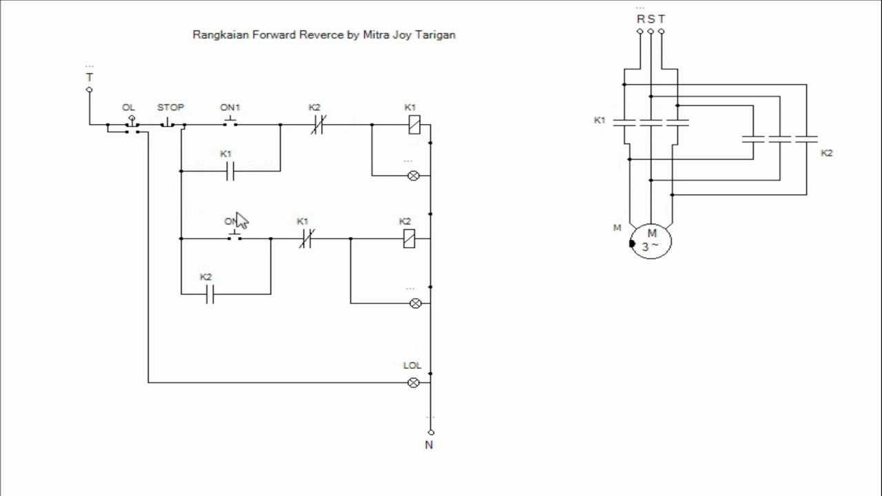 RANGKAIAN Forward Reverse Motor Listrik 3 Fasa - YouTube