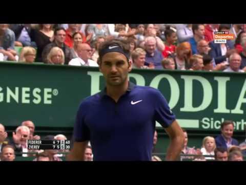 Roger Federer v. Alexandr Zverev | Halle 2016 SF Highlights HD