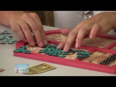 DIY: Faça você mesmo - Placa Decorativa em Scrap Decor - Ana P Alves