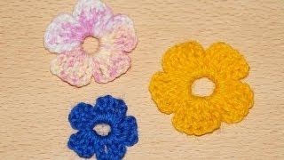 Схема вязания крючком простые цветы 1 / /  Scheme simple crochet flowers 1(Будь в курсе новых видео, подписывайся на мой канал ▻http://www.youtube.com/user/hobby24rukodelie?sub_confirmation=1 Схема вязания..., 2014-01-21T20:05:13.000Z)
