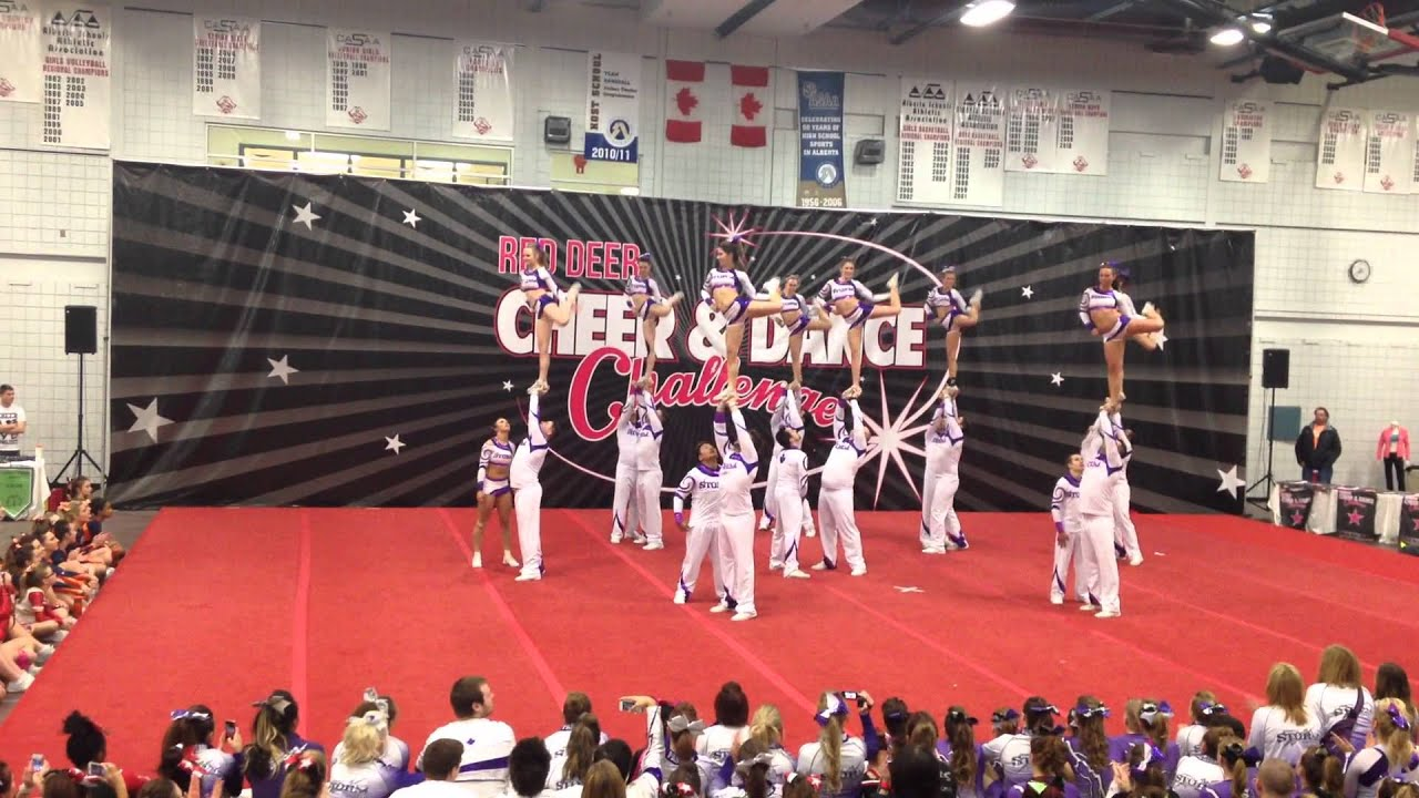 Perfect Storm Cheerleaders In Competition Red Deer Cheer