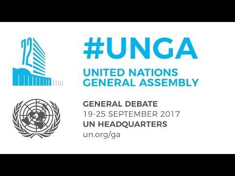 UNGA General Debate  21 September 2017