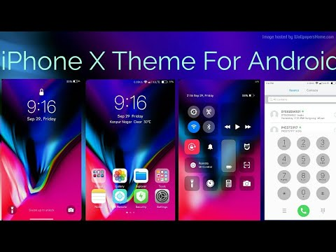 iPhone X Theme (IOS11) Download Link !!! Android
