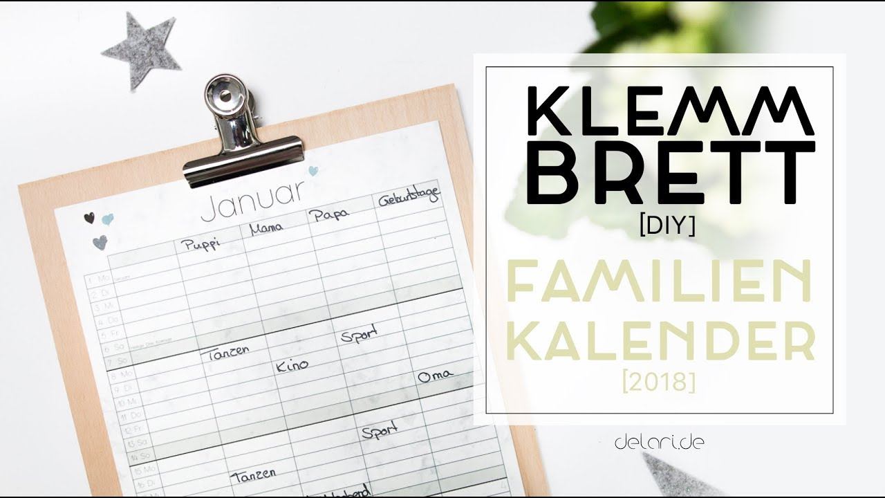 5 Klemmbrett Diy Ideen Für Familienkalender Delari