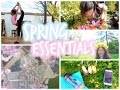 Spring Essentials ♡ | Outfit Idea + DIY Flower Crown + Spring Acitivity + Workout