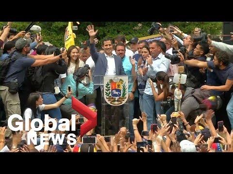Venezuela's Guaido hails EU support as Caracas slams European election ultimatum