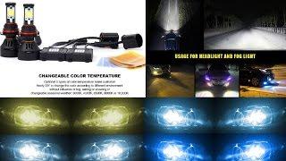 led bulb 4s kit head light fog 25w 5600 lumen 30w 7000 lumen upgrade replace test review
