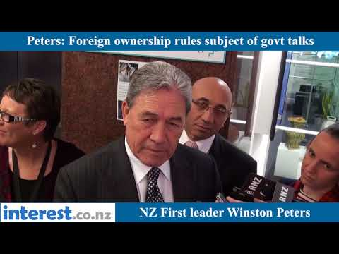 Winston Peters on foreign ownership