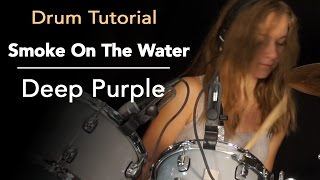 Smoke On The Water on drums - tutorial by Sina