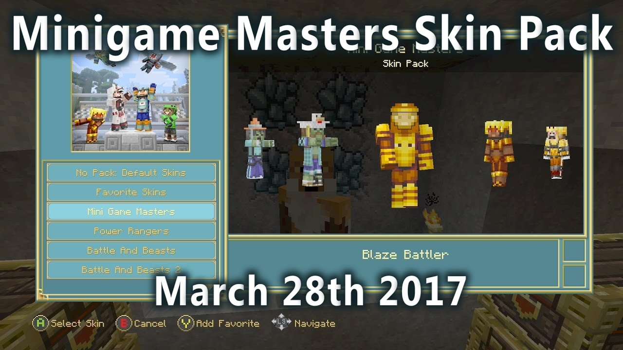 Minecraft - New Minigame Masters Skin Pack is Here! (March 12th 12)