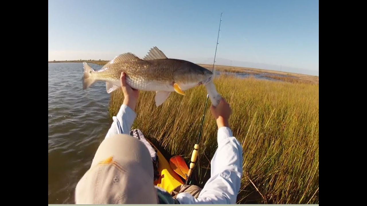 Texas kayak fishing marsh heaven nov 2013 youtube for Trinity bay fishing