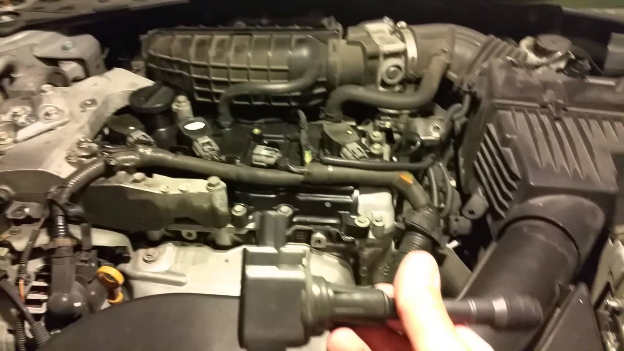 2007 Nissan Altima 2 5l Ignition Coils Replaced Youtube