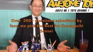 Meijin Kawaguchi answers fans questions on all things gunpla and hi...