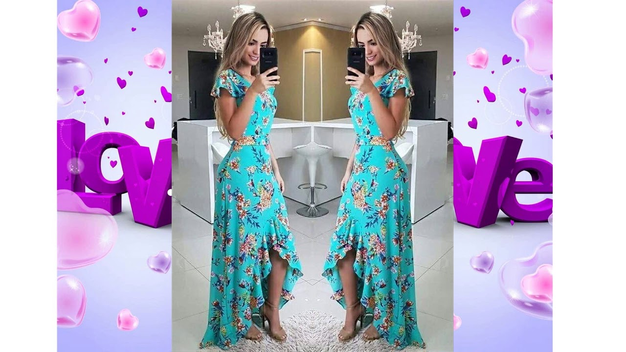 Moda S Vestidos Elegantes Floreados Fashion Dresses Outfits 2019