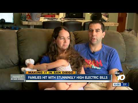 San Diego families stunned by high electric bills