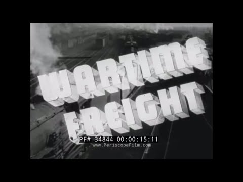 "WORLD WAR II   RAILROAD EMPLOYEE INDUSTRIAL INCENTIVE MOVIE  "" WARTIME FREIGHT "" 34844"