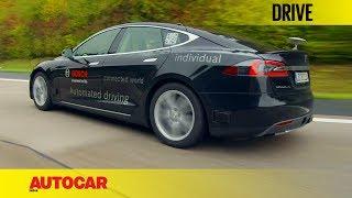 Bosch Autonomous Tesla   First Drive   Autocar India