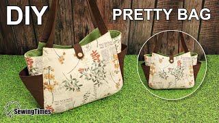 DIY PRETTY TOTE BAG 에코백만들기 | Shopping bag Handbag Sewing Tutorial | Free Pattern [sewingtimes]