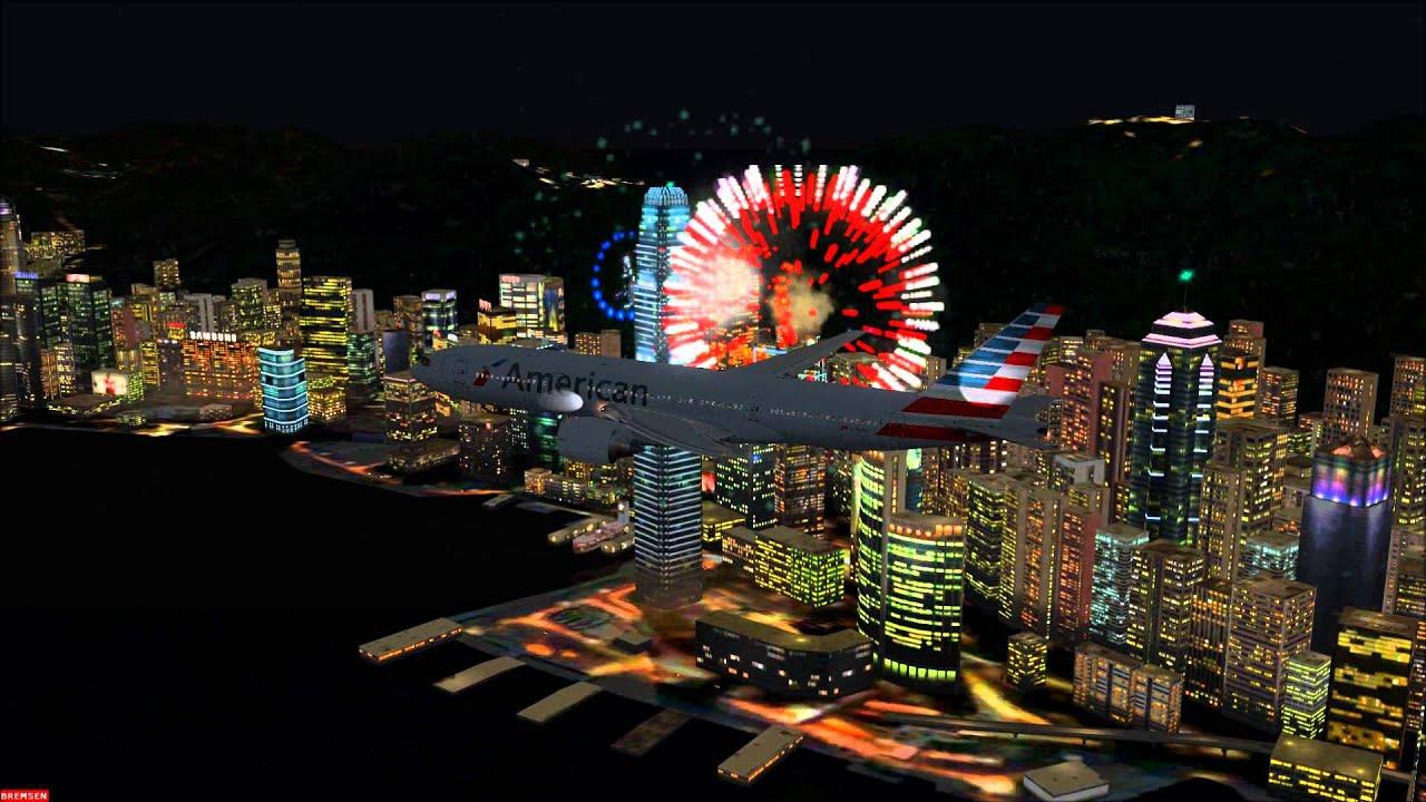 happy new year 2014 hong kong american 777 200er