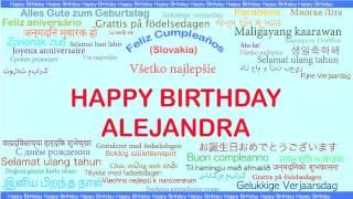 Alejandra   Languages Idiomas - Happy Birthday