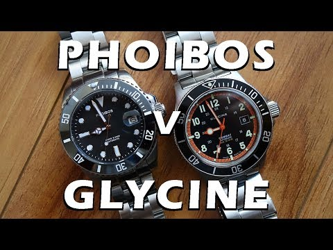 "Automatic Dive Watch Duel: Phoibos ""Great White"" vs. Glycine Combat Sub - Perth WAtch #78"
