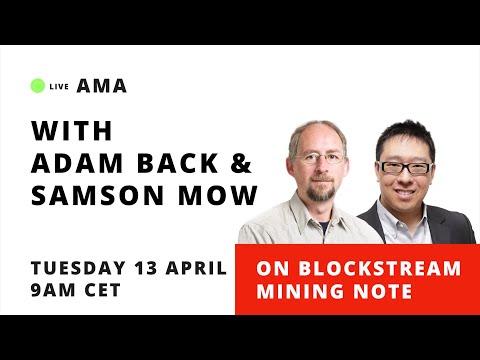 Blockstream Mining Note AMA