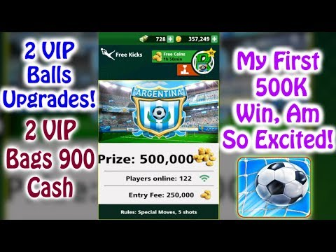 Football Strike Mini Unbelievable 💪🏼😱 My First 500k Match  2 VIP bags & 2 VIP Balls Upgrades