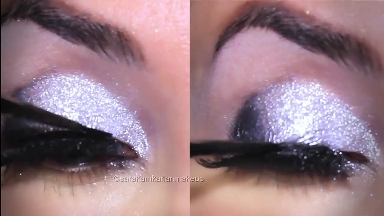 f75d7d298c1 Classic Silver Glitter Eye Makeup Tutorial - YouTube