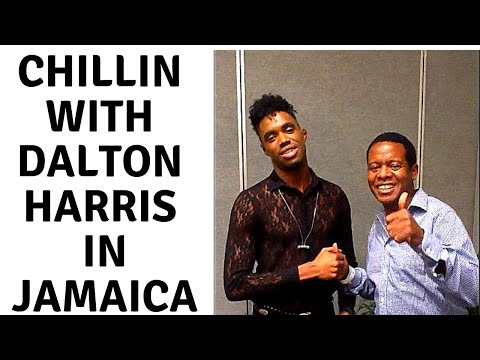 back stage with dalton harris in kingston Jamaica
