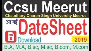 Chaudhary charan singh university meerut ( Ccsu ) Date Sheet 2019