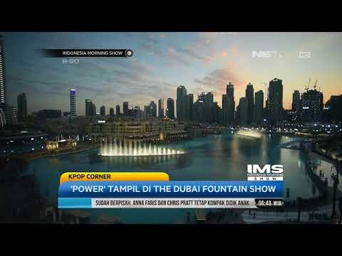 Single, Power Dari EXO Tampil Di The Dubai Fountain Show
