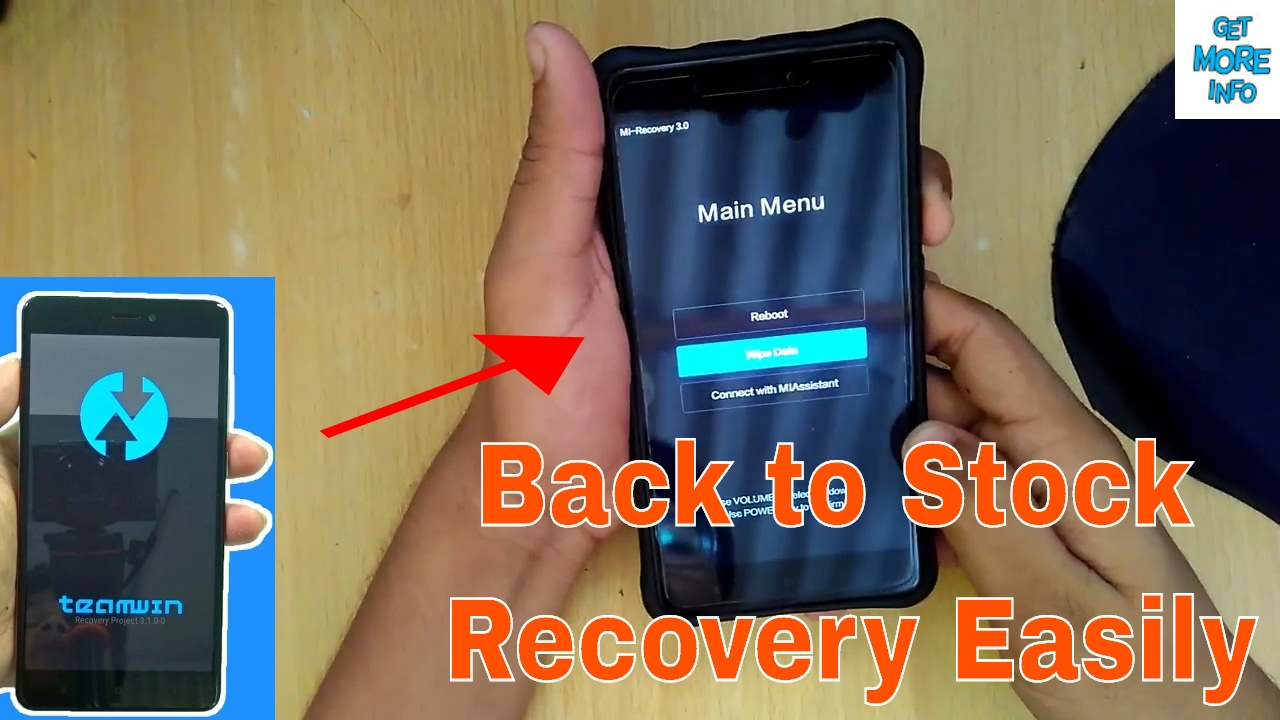 Revert back to MI stock recovery from TWRP recovery in Redmi Note 4 (SD)