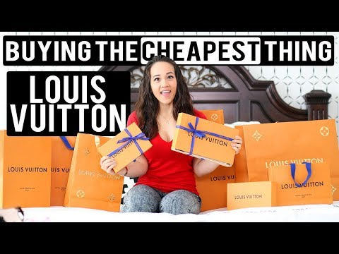 I BUY THE CHEAPEST THING IN LOUIS VUITTON!!!