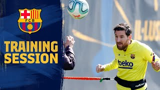 Messi on target in training