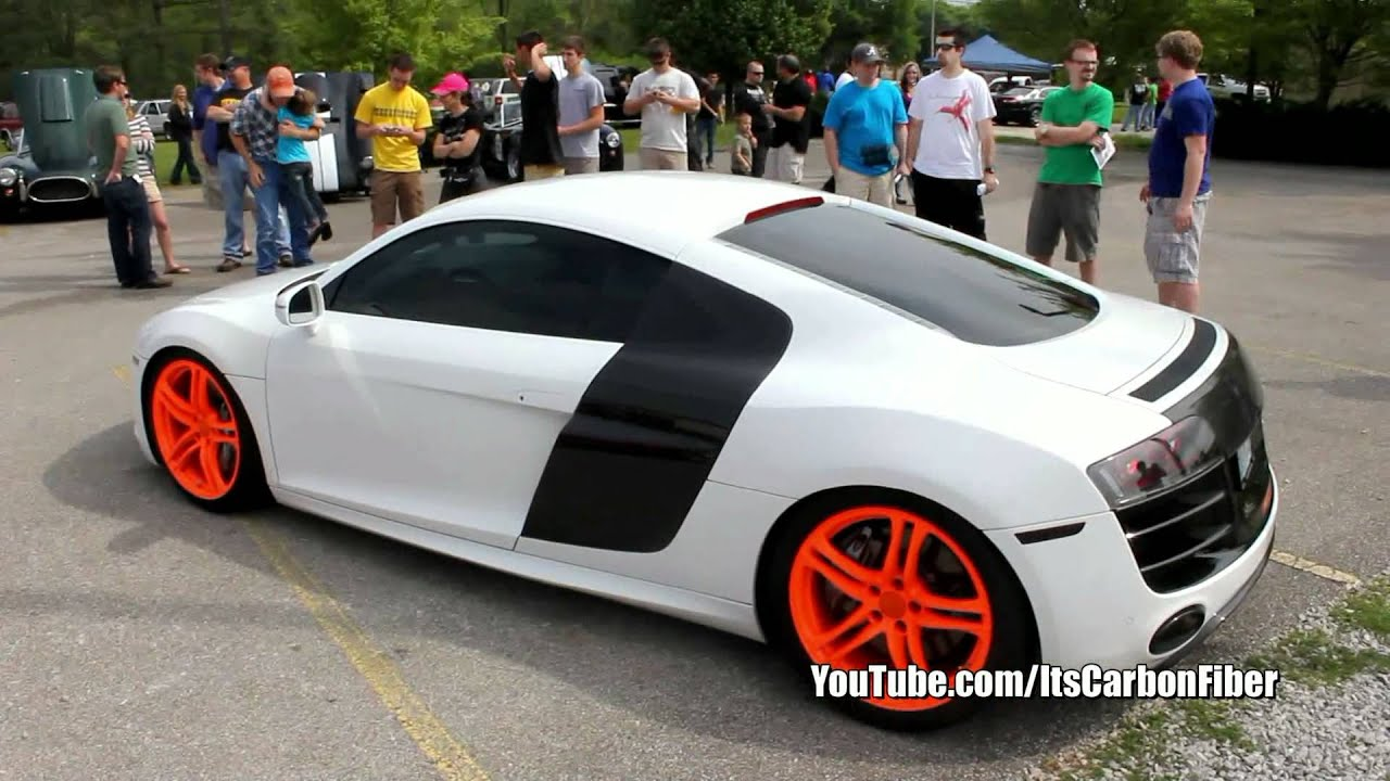 "Custom ""Hoonigan"" Audi R8 V10 - Acceleration and Exhaust Note - YouTube"